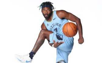 MEMPHIS, TN - DECEMBER 6:  Justise Winslow #7 of the Memphis Grizzlies poses for a portrait during Memphis Grizzlies Content Day on December 6, 2020 at FedExForum in Memphis, Tennessee.  NOTE TO USER: User expressly acknowledges and agrees that, by downloading and or using this photograph, User is consenting to the terms and conditions of the Getty Images License Agreement. Mandatory Copyright Notice: Copyright 2020 NBAE (Photo by Joe Murphy/NBAE via Getty Images)