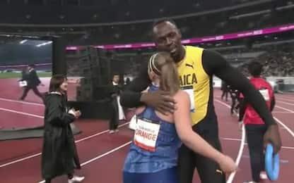 Usain Bolt inaugura lo stadio di Tokyo 2020