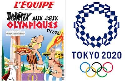 """L'Equipe, copertina """"olimpica"""" con Asterix. FOTO"""