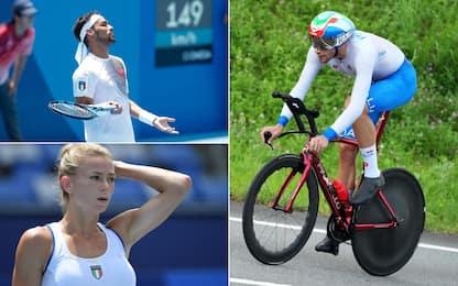 Fognini e Giorgi out, Ganna quinto nella crono