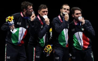 Italia argento nella sciabola, Montano ai saluti