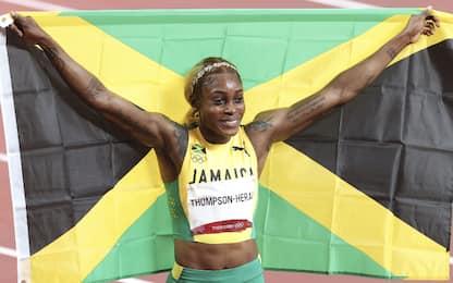 Show di Thompson, vince i 100 col record olimpico