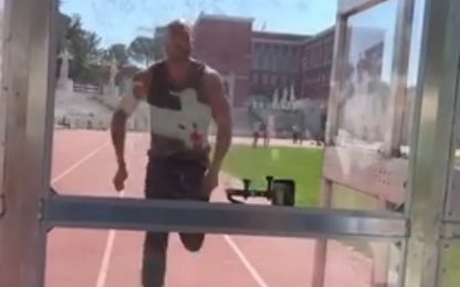 """Jacobs, il VIDEO dell'""""incredibile"""" allenamento"""