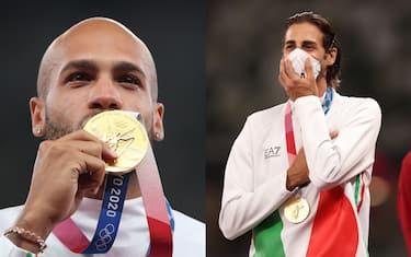 jacobs_tamberi_premiazione_oro_olimpiadi_getty