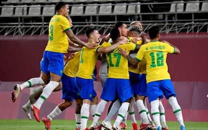 Calcio maschile, la finale sarà Brasile-Spagna