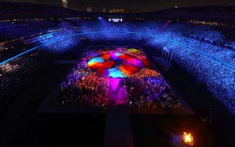TOKYO, JAPAN - AUGUST 08: The Athletes of the competing nations enter the stadium during the Closing Ceremony of the Tokyo 2020 Olympic Games at Olympic Stadium on August 08, 2021 in Tokyo, Japan. (Photo by Rob Carr/Getty Images)