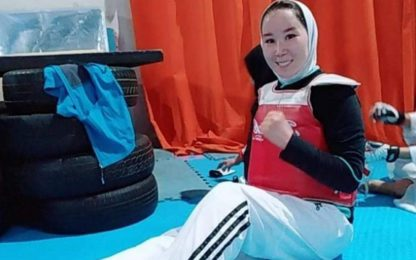 La paralimpica afghana Zakia Khoudadadi è in salvo