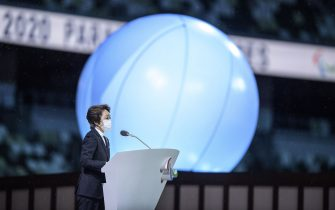 Handout photo dated 24/08/2021 provided by OIS of Seiko Hashimoto, president of Tokyo 2020 Organising Committee delivers her address during the opening ceremony of the Tokyo 2020 Paralympic Games at Olympic Stadium in Japan. Picture date: Tuesday August 24, 2021.