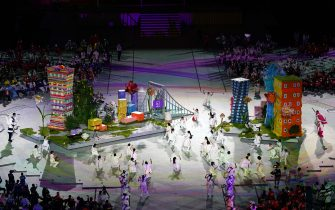 Performers on stage during the closing ceremony of the Tokyo 2020 Paralympic Games at Olympic Stadium in Japan. Picture date: Sunday September 5, 2021.
