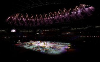 Fireworks explode during the closing ceremony of the Tokyo 2020 Paralympic Games at Olympic Stadium in Japan. Picture date: Sunday September 5, 2021.
