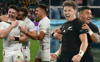 Mondiali: Inghilterra e All Blacks in semifinale