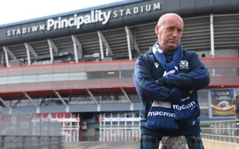 CARDIFF, WALES - MARCH 14: A Scotland fan in a kilt is pictured outside a deserted Principality Stadium after the 2020 Guinness Six Nations match between Wales and Scotland at Principality Stadium was cancelled the day before due to Coronavirus (Covid-19) on March 14, 2020 in Cardiff, Wales. (Photo by Stu Forster/Getty Images)