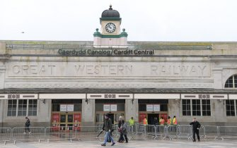 CARDIFF, WALES - MARCH 14: A quiet Cardiff central train station is pictured after the 2020 Guinness Six Nations match between Wales and Scotland at Principality Stadium was cancelled the day before due to Coronavirus (Covid-19) on March 14, 2020 in Cardiff, Wales. (Photo by Stu Forster/Getty Images)