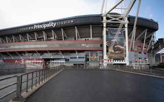 CARDIFF, UNITED KINGDOM - MARCH 14: A general view of the Principality Stadium on March 14, 2020 in Cardiff, Wales. The Six Nations fixture in Cardiff between Wales and Scotland at the Principality Stadium was postponed 24 hours before kick-off due to concerns about the spread of the coronavirus. (Photo by Matthew Horwood/Getty Images)