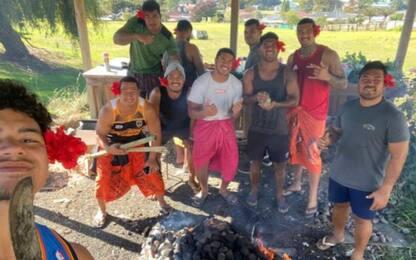 Una squadra samoana in trasferta da 104 giorni!