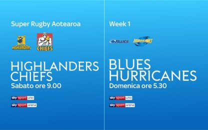 Weekend di Super Rugby, live su Sky Sport