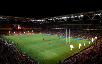 BRISBANE, AUSTRALIA - NOVEMBER 07: A general view during the 2020 Tri-Nations match between the Australian Wallabies and the New Zealand All Blacks at Suncorp Stadium on November 07, 2020 in Brisbane, Australia. (Photo by Matt Roberts/Getty Images)