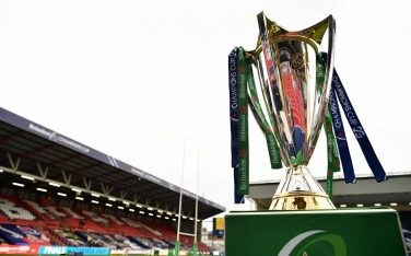 BRISTOL, ENGLAND - OCTOBER 17: A detailed view of the Heineken Champions Cup prior to the Heineken Champions Cup Final match between Exeter Chiefs and Racing 92 at Ashton Gate on October 17, 2020 in Bristol, England. (Photo by Dan Mullan/Getty Images)
