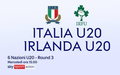Sei Nazioni U20, Italia in campo contro l'Irlanda