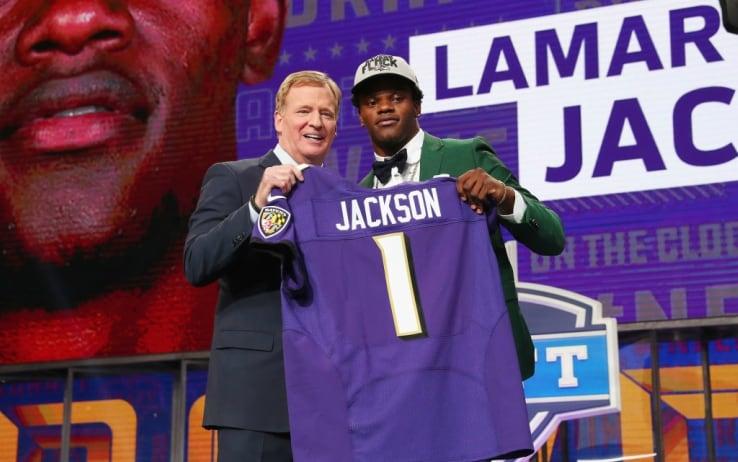 Lamar Jackson, scelta numero 32 nel draft del 2018
