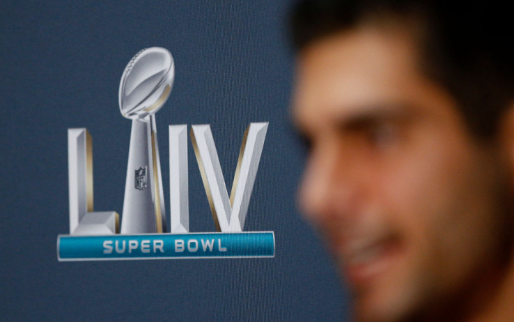 Jimmy Garoppolo durante il media Day a Miami