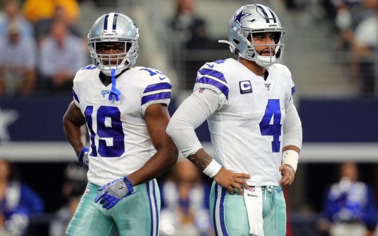 Amari Cooper (sinistra) e Dak Prescott (destra), stelle dei Cowboys