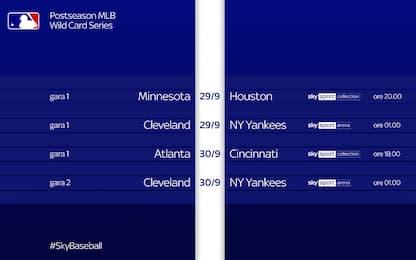 Playoff Mlb, orari e dove vederli su Sky Sport