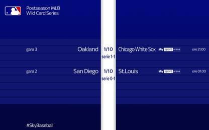 Mlb, playoff spietati. Oggi due gare live su Sky