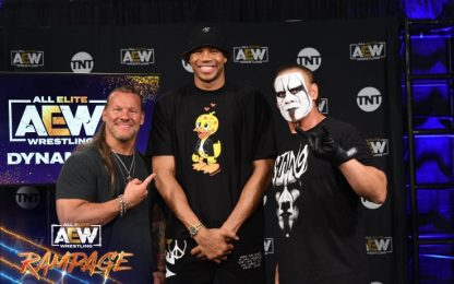 Wrestling AEW: Antetokounmpo sul ring su Sky Sport