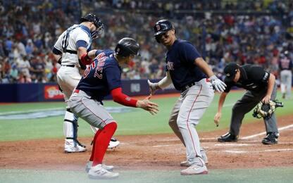 MLB, i Red Sox schiantano Tampa Bay: 14-6