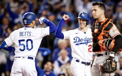 Postseason Mlb: passano i Dodgers, fuori i Giants