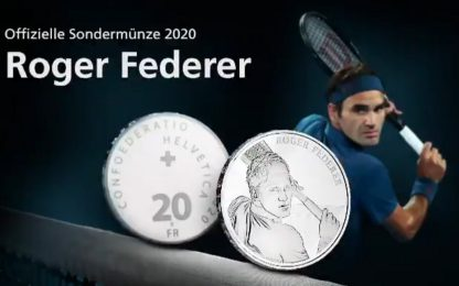 Svizzera, Federer diventa una moneta da 20 franchi