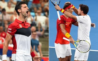 ATP Cup, Serbia e Spagna in semifinale