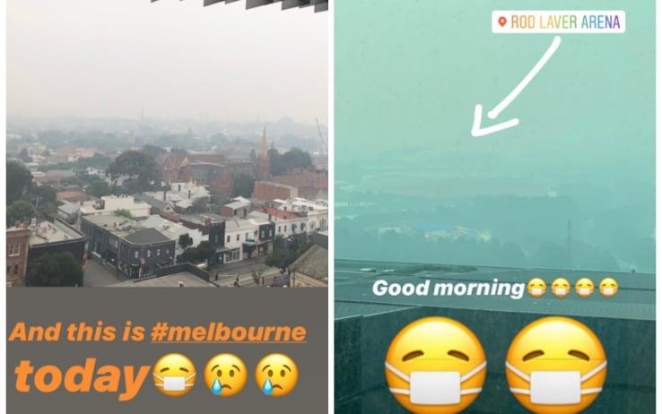 Fumo e foschia a Melbourne