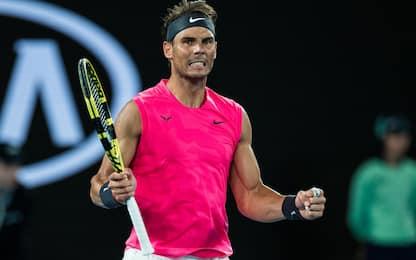 Aus Open, Nadal ai quarti. Eliminato Medvedev