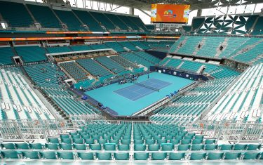 MIAMI GARDENS, FLORIDA - MARCH 18:  A general view of the new centre court stadium during day one of the Miami Open on March 18, 2019 in Miami Gardens, Florida. (Photo by Julian Finney/Getty Images)