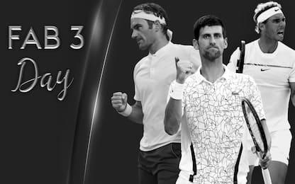 Sky Sport Uno, una giornata con i Fab 3 del tennis