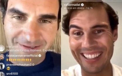 Federer-Nadal, show anche su Instagram. VIDEO
