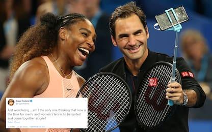 """Idea Federer: """"Non possiamo unire ATP e WTA?"""""""