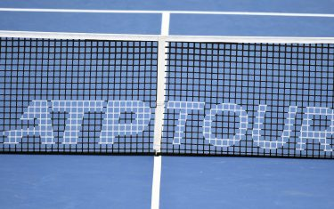 WASHINGTON, DC - JULY 31:  The ATP logo on the net after a match between John Eisner of the United States and Hubert Hurkacz of Poland during Day 3 of the Citi Open at Rock Creek Tennis Center on July 31, 2019 in Washington, DC.  (Photo by Mitchell Layton/Getty Images)