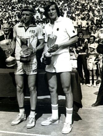 Adriano Panatta e Bjorn Borg, 1976