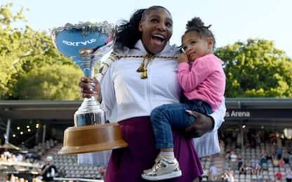 Serena Williams nel calcio con la figlia di 2 anni