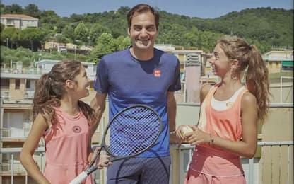 """La sorpresa di Federer alle """"tenniste del tetto"""""""