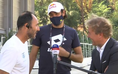 Berrettini irrompe nell'intervista al coach. VIDEO