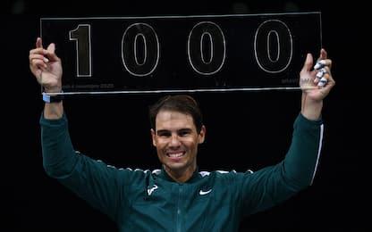 Nadal, ottavi a Bercy e 1000 vittorie in carriera