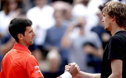 Le partite di oggi: Djokovic-Zverev alle 15