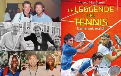 """""""Le leggende del tennis"""", il libro di Mangiante"""