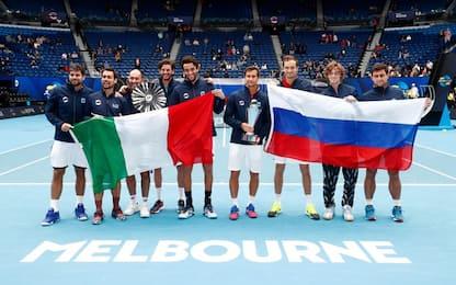 Troppa Russia per l'Italia: Fognini-Berrettini ko