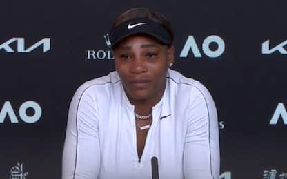 """Serena ko e in lacrime: """"Se mi ritiro? Non lo so"""""""