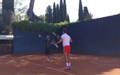Fiorello, un coach speciale per Djokovic. VIDEO